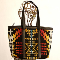 SALE Only Black Left Native American Inspired Tote Bag