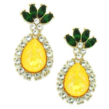 Pineapple Drop Earrings