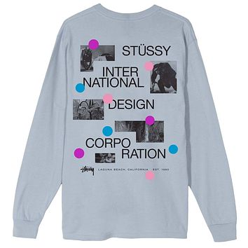 Dot Collage L/S Tee in Slate