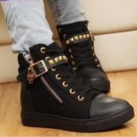 Spring & Summer women sneakers wedge female running shoes Leisure Natural Rubber.