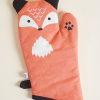 Feast Expected Oven Mitt in Fox