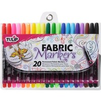 Tulip Fabric Markers Fine Writers 20 Pack - Premium Quality, Nontoxic & Fast Drying