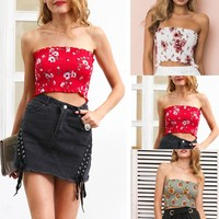 Floral Smocked Tube Top