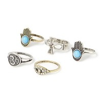 Inspirational Rings Set of 5 | Claire's
