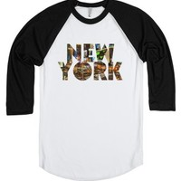 New York City-Unisex White/Black T-Shirt