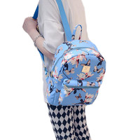 Women Cute School Bags Backpack Mini 2016 Fashion Back Pack Floral Printing Small PU Leather Backpack For Teenagers Girls DF501