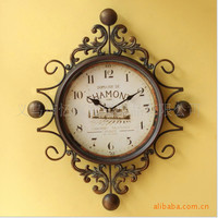 Mediterranean Sea Style Vintage Iron Luxury Clock [6282893894]