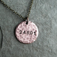 Les Miserables Inspired  24601  A Hand by ChrisClosetCreations