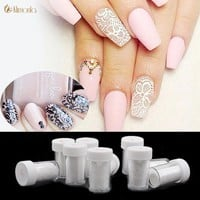 1Pc White Lace Nail Stickers Nail Art Water Transfer Foil Lace Charm Flower DIY Decoration Nail Art Decals Polish Manicure Tools
