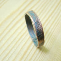 Mens wedding Band, textured mens ring size 10 and other, hammered copper ring, man jewelry, men ring, mans ring