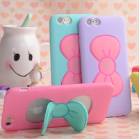 Butterfly Bow Stand Holder Case For iPhone 6