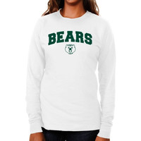 Baylor Bears Ladies Logo Arch Long Sleeve Slim Fit T-Shirt - White