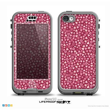 The Small Pink Hearts Collage Skin for the iPhone 5c nüüd LifeProof Case
