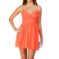 Sale- Elly-coral Prom Dress