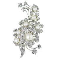 New Fashion Flower Brooch Luxurious Crystal Brooch Princess Jewelry Noble Jewelry for Women