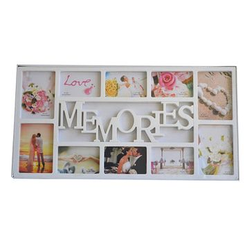 White Multi Photoframe Frames Memories Picture Wall Decor Photo Frame Gift