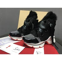 Christian Louboutin CL Loafer Style  Sneakers Fashion Shoes Online High top boots