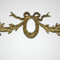 LARGE Gilt Bronze Fragment French Knot Swag 20 Inch Long