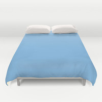 Aero Blue Duvet Cover - 7CB9E8 - Twin, King Queen Size Duvet - Blue Blanket - Blue Duvet - Blue Bedding