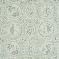 Schumacher Fabric 179562 Les Scenes Contemporaines Mineral
