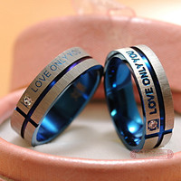 1 Piece!!! Stainless Steel Wedding Rings Band Korean Jewelry Couple Rings, his and hers promise ring sets For men and women