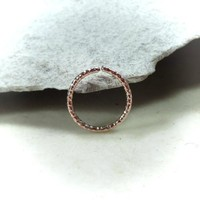Pink Gold Nose Ring Endless Faceted
