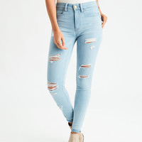AEO Denim X Hi-Rise Jegging, Powder Blue