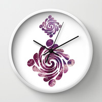 Abstract painting purple Wall Clock by VanessaGF