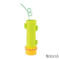 Cactus Glass with Straw