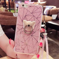 Twinkle Cat Ring Best Protection iPhone 7 7 Plus & iPhone 6 6s Plus & iPhone 5s se Case Personal Tailor Cover + Gift Box