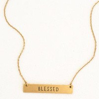 """""""Blessed"""" Bar Layering Necklace"""