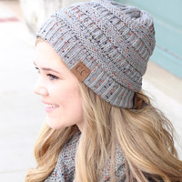 C.C.: Speckled Beanie {Natural Grey}
