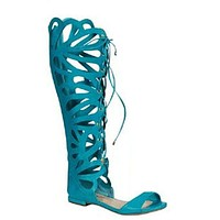 Women's Solo-15 Caged Knee High Gladiator Sandals