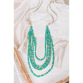 Dressed To Impress Beaded Draped Necklace