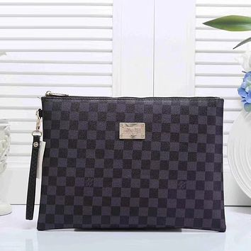 Louis Vuitton LV Women Fashion Leather Zipper Wallet Purse