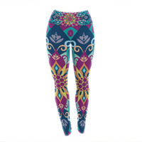 "Amanda Lane ""Blooming Mandala"" Yoga Leggings"