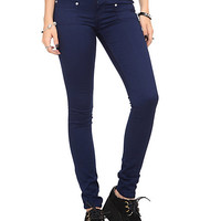 Navy High Waisted Skinny Jeans | Hot Topic