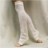 DANCE CRUSH yoga leg warmers - cream