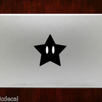 Super mario Star Allstars snes Bros Decal Stickers For Macbook 13 Pro Air Decal