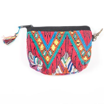 Upcycled Huipil Coin Purse (Guatemala) - Style 1