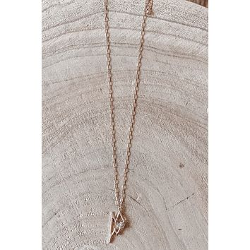 The Most Fabulous Gold Lightning Bolt Necklace