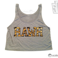 Rawr Tiger Print Crop Top - 050