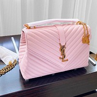 Onewel YSL Bag Saint Laurent chain bag bronze buckle bag pink