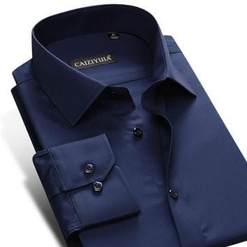 Standard-fit Easy-Care Plain Shirt