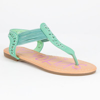 Yokids Rowena Girls Sandals Teal Blue  In Sizes