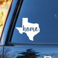 Texas Home Decal | Texas Decal | Homestate Decals | Love Sticker | Love Decal  | Car Decal | Car Stickers | 135