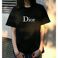 Dior fashion simple logo printing short sleeves N-AG-CLWM
