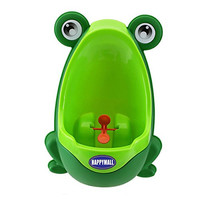 HAPPYMALL loverly Frog Baby Toilet Training Children Potty Urinal Pee Trainer Urine For Boys With Funny Aiming Target (Green)