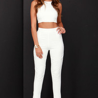 Well-Suited Ivory Two-Piece Set