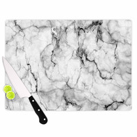 "Chelsea Victoria ""Marble No 2 "" Black Modern Cutting Board"